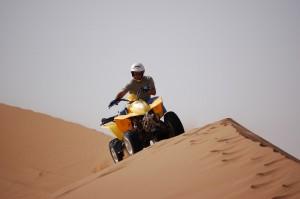 Quad biking the dunes at Essaouira